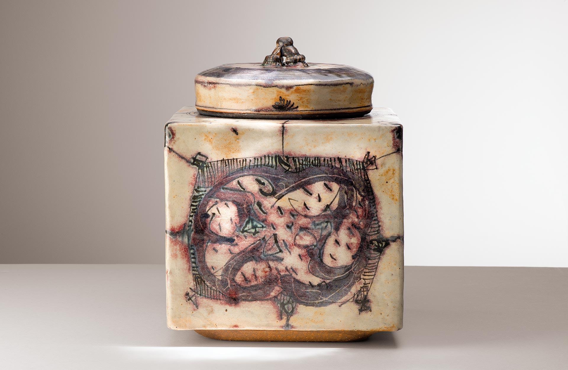 Céramique de Catherine Vanier – Boite carrée 2015