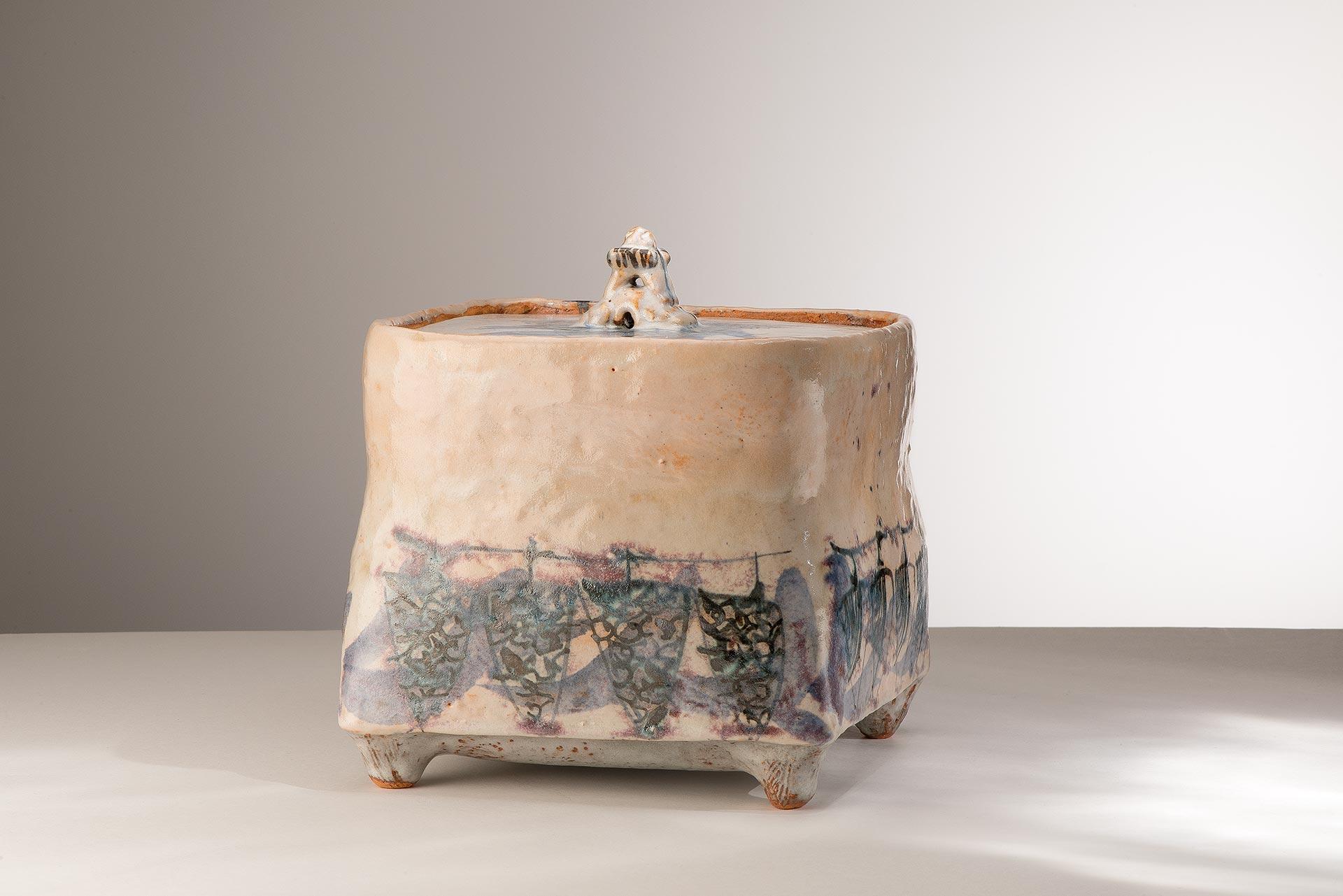 Céramique de Catherine Vanier – Boite carrée 2017